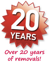 Over 20 years of removals experience